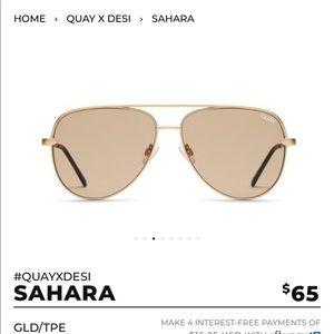 Quay x Desi Perkins SAHARA gold/taupe USED